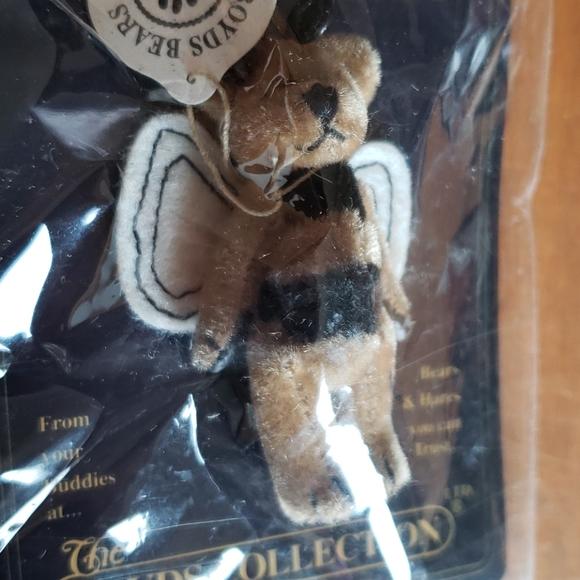 "Boyd's Tiny Handmade Brown Bear Pin 2"" Butterfly"